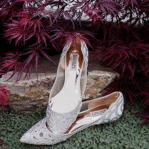 Badgley Mischka GiGi Crystal Pointed Toe Flats